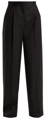 The Row Elin Wool Trousers - Womens - Black