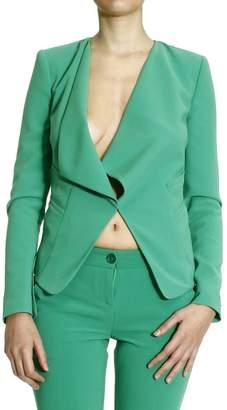 Patrizia Pepe Blazer Jacket Sciallata Crepes Di Viscosa Stretch