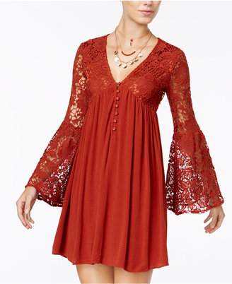 American Rag Bell-Sleeve Babydoll Dress, Only at Macy's $69.50 thestylecure.com