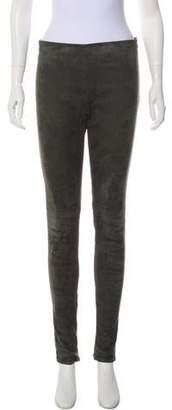 Balenciaga Leather Mid-Rise Pants