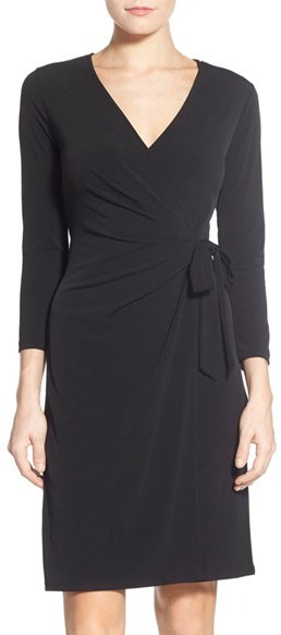 Anne Klein Women's Anne Klein Jersey Faux Wrap Dress