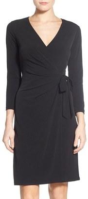 Women's Anne Klein Jersey Faux Wrap Dress $99 thestylecure.com