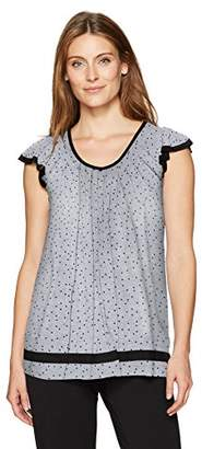 Ellen Tracy Women's Short Sleeve Flutter Top