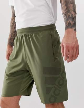 adidas Training logo shorts in khaki