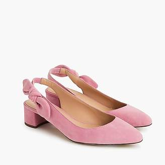 J.Crew Slingback bow pumps (40mm) in suede