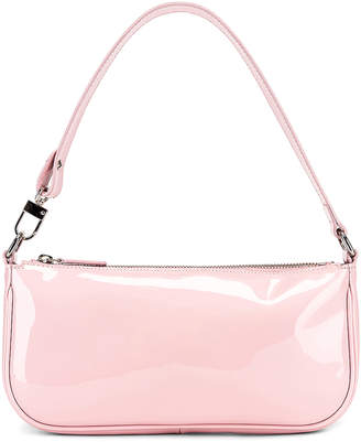 BY FAR Rachel Patent Leather Shoulder Bag in Baby Pink | FWRD