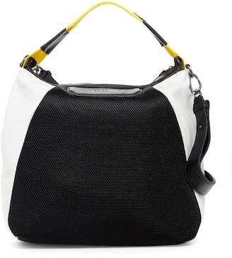 Liebeskind Berlin Annaba Leather & Mesh Trim Shoulder Bag Hobo