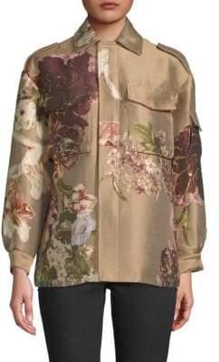 Valentino Metallic Floral Jacket