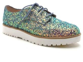 Qupid Newbie Lug Sole Glitter Lace-Up Oxford
