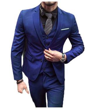 462d22ba03ba Jingmo Suits for Men Slim Fit Formal 3 Piece Blazer Vest Pants Set Tuxedo