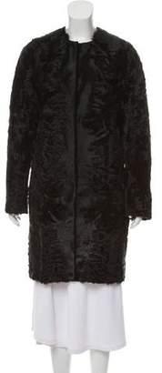 Yves Salomon Collarless Fur Coat