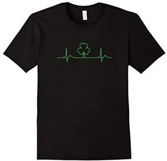 Irish EKG Shamrock gift T shirt