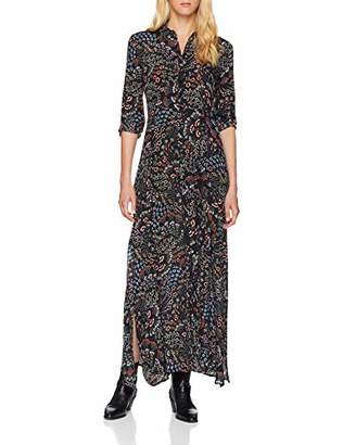 Mavi Jeans Women's Long Dress (Black Paisley Printed 25745), X