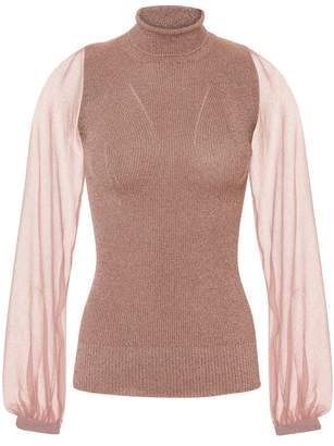 Missoni Lurex Pink Turtleneck