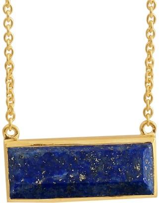 Gemstone Bar Necklace, Sterling