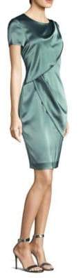 St. John Liquid Satin Sheath Dress