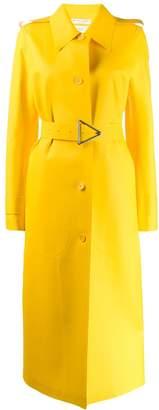 Bottega Veneta long belted raincoat
