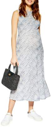 Topshop MATERNITY Tie-Dye Sleeveless Dress