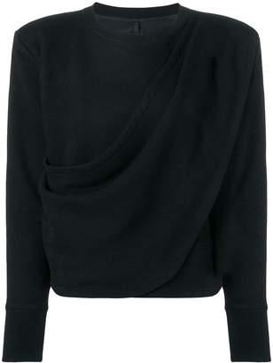 Unravel Project draped sweatshirt