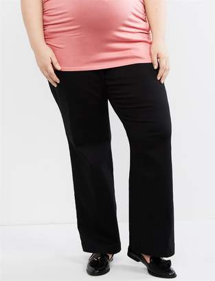 21b5802d7760b Motherhood Maternity Plus Size Secret Fit Belly Twill Boot Cut Maternity  Pants
