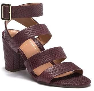 Vionic Blaire Snake Embossed Leather Block Heel Sandal