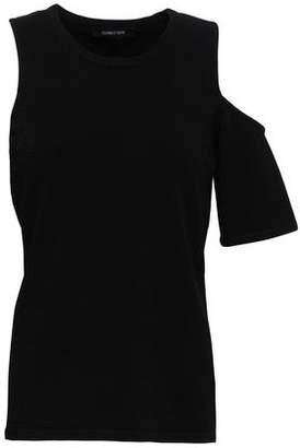 Cushnie Cold-shoulder Stretch-knit Top
