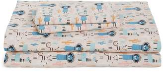 Under One Sky Print Cotton Twin Sheet Set