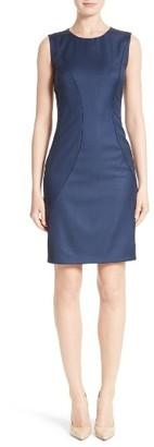 Women's Boss Denesa Piped Sheath Dress $625 thestylecure.com