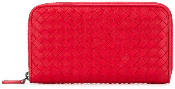 Bottega VenetaBottega Veneta interlaced zip around wallet
