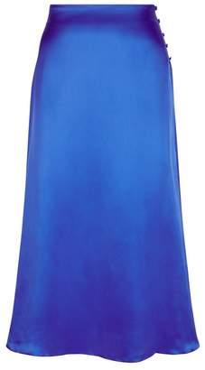 Beulah London Pari Blue Satin Skirt