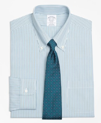 Brooks Brothers Regent Fitted Dress Shirt, Non-Iron Framed Double Stripe