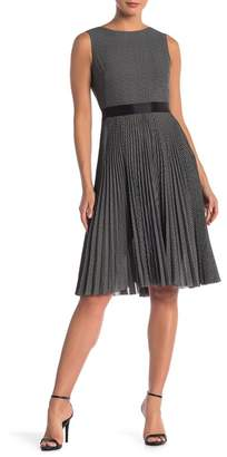 Max Studio Sleeveless Pleated Chiffon Dress