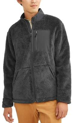 George Men's High Pile Fleece Zip Up Jacket