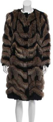 Alberta Ferretti 2016 Reversible Fur Coat