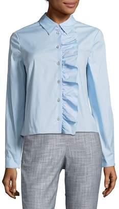 Prada Women's Camicia Popeline Long-Sleeve Shirt