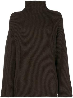 Agnona chunky knit polo neck