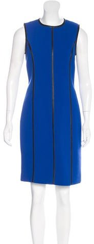 MICHAEL Michael Kors Michael Kors Leather-Trimmed Wool Dress