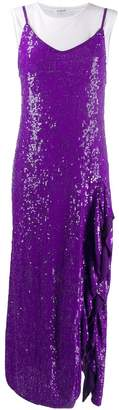 P.A.R.O.S.H. layered sequin slip dress