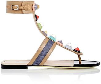 Fendi Women's Studded Leather Gladiator Sandals $800 thestylecure.com