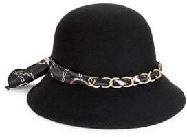 Collection 18 Chain Wool Cloche Hat
