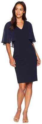 Vince Camuto V-Neck Bodycon Dress with Souffle Chiffon Sleeves Women's Dress