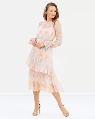 Cooper St Goldie Long Sleeve Midi Dress