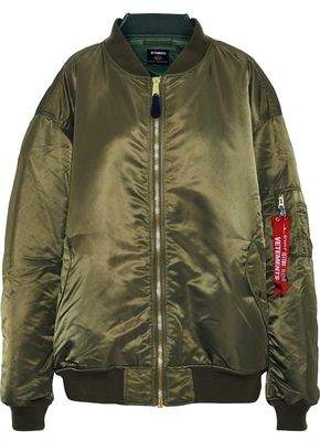 Vetements Oversized Sateen Bomber Jacket