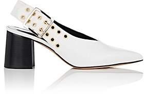 Derek Lam Women's Debbie Leather Slingback Pumps - White