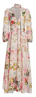 Zimmermann Women's Heathers Floral Linen Maxi Dress