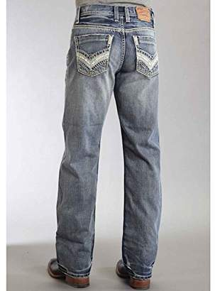Stetson Men's Modern Fit Pieced Back Pocket Jeans - 11-004-1312-4040 Bu