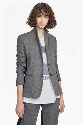 French Connection Antonia Tweed Long Sleeved Classic Jacket