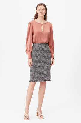 Rebecca Taylor Tailored Static Tweed Pencil Skirt