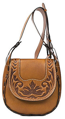 Patricia Nash Burnished Tooled Collection Felix Cross-Body Bag $199 thestylecure.com
