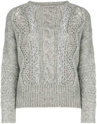 Ermanno Scervino cable knitted jumper